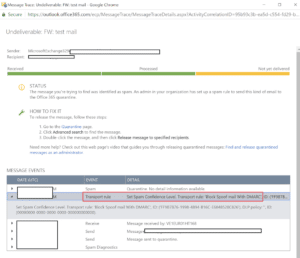 Office 365 DMARC rule blocking NDR mails from On-premise
