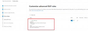 DLP Policy Settings